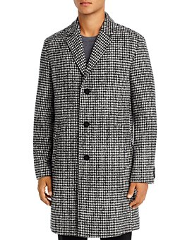 HUGO - Malte Houndstooth Slim Fit Coat