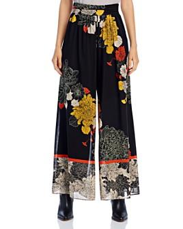 Kobi Halperin - Claudia Flowy Floral-Print Pants