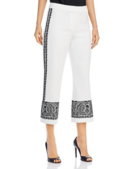 Kobi Halperin - Zeina Embroidered Cropped Pants
