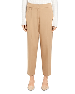 Theory Wool-Stretch Ankle Pants