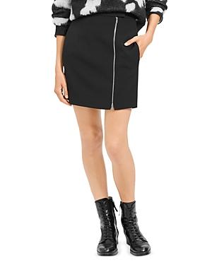 Theory Asymmetric-Zip Mini Skirt
