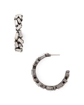 AQUA - Baguette Crystal Hoop Earrings