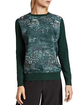 Ted Baker - Zoii Diamond-Print Sweater