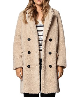 Zadig & Voltaire - Mint Teddy-Bear Coat