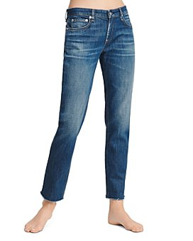 rag & bone - Dre Frayed Slim Boyfriend Jeans in Magnus