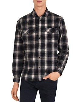 The Kooples - Brushed Plaid Slim Fit Button-Down Shirt