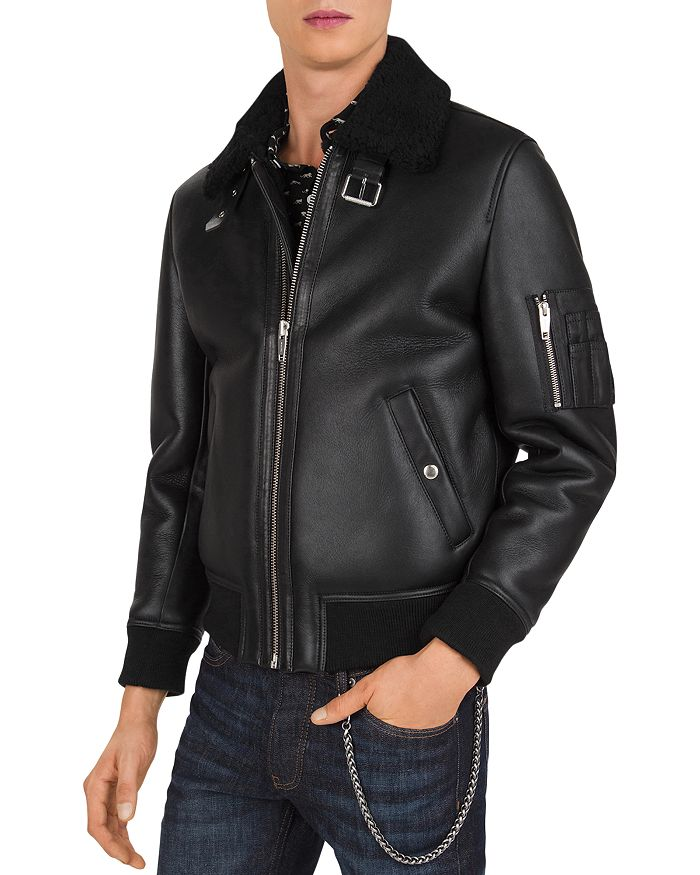 The Kooples SILKY FLYING LEATHER JACKET
