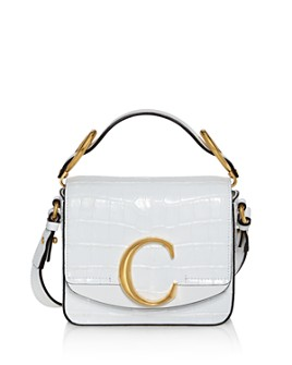 Chloé - C Mini Croc-Embossed Crossbody