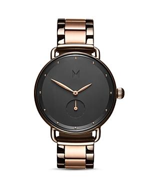 Mvmt Bloom Gunmetal & Rose Gold-Tone Link Bracelet Watch, 36mm