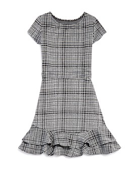 AQUA - Girls' Ruffled Plaid Dress, Big Kid - 100% Exclusive