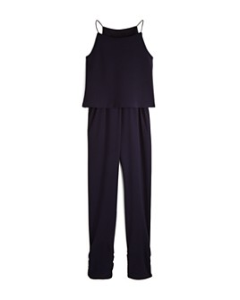 AQUA - Girls' Layered-Look Jumpsuit, Big Kid - 100% Exclusive