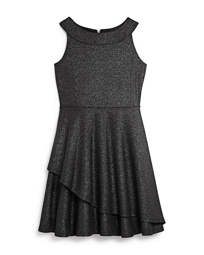 US Angels - Girls' Fit-and-Flare Sparkle Dress, Big Kid - 100% Exclusive