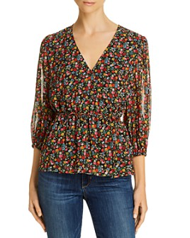 Notes du Nord - Neeve Floral Print Wrap Top