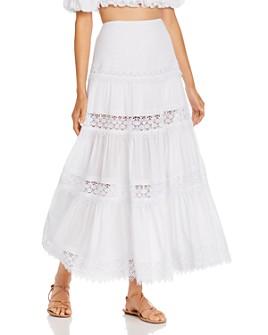 Charo Ruiz Ibiza - Ruth Crochet Inset Maxi Skirt
