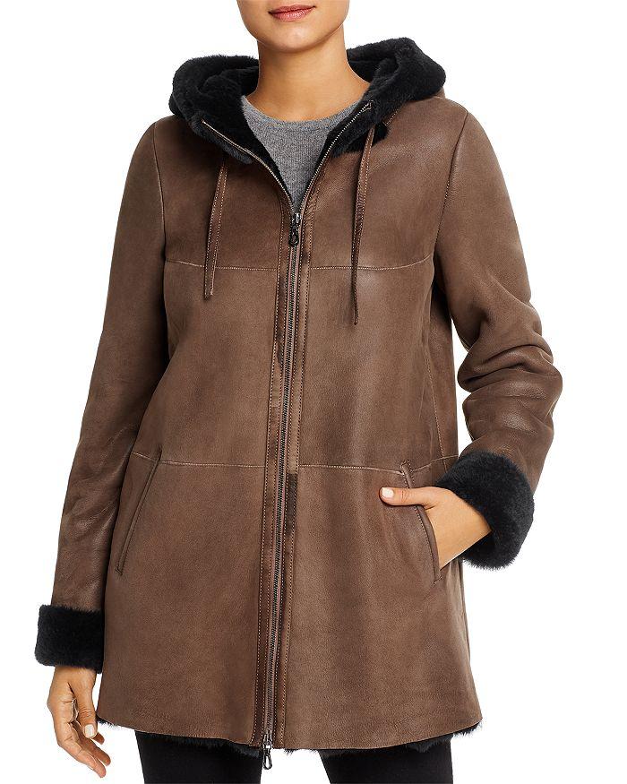 Maximilian Furs - Hooded Shearling Coat - 100% Exclusive