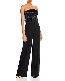 Jay Godfrey - Emma Beaded Fringe Strapless Jumpsuit