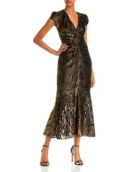 Rachel Zoe - Goldie Metallic Midi Dress