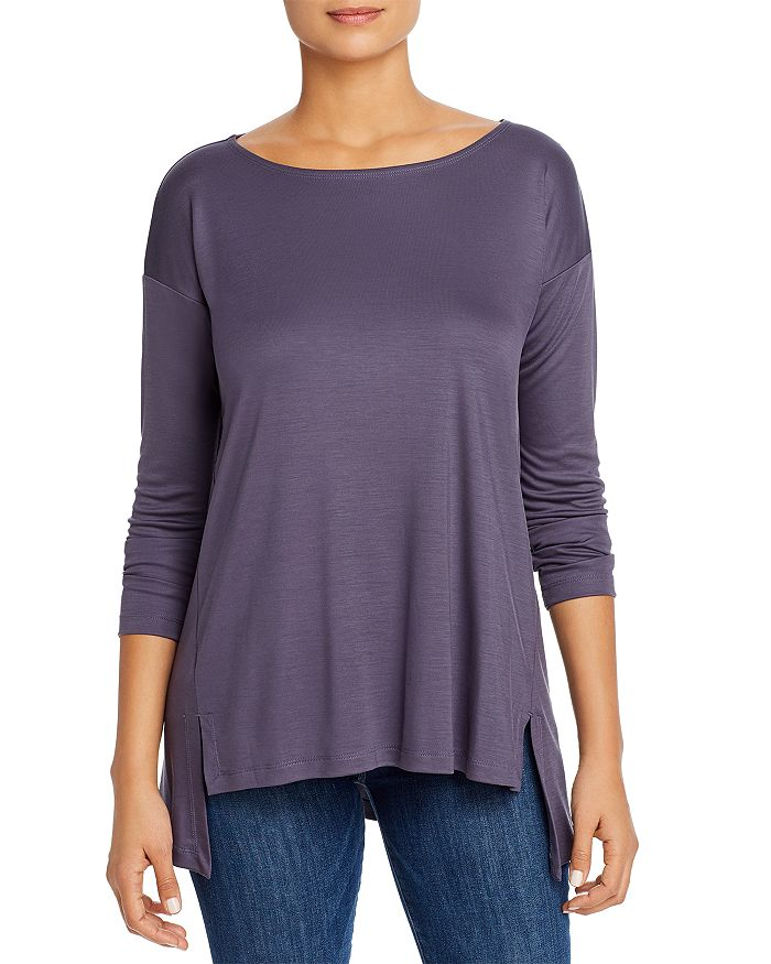 Eileen Fisher Petites - Long-Sleeve High/Low Top