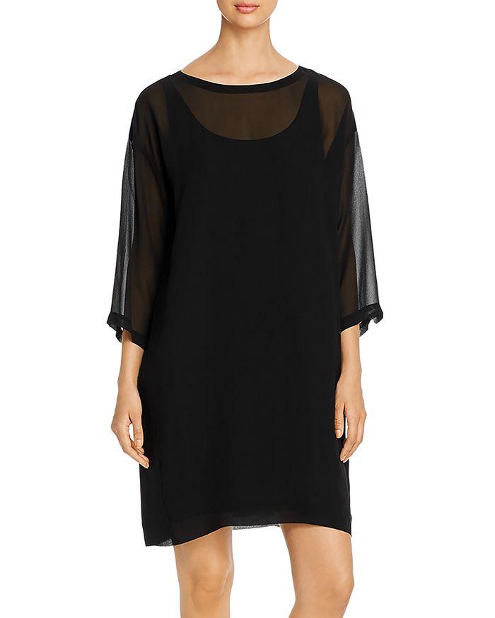 Eileen Fisher - Sheer Silk Layered Dress