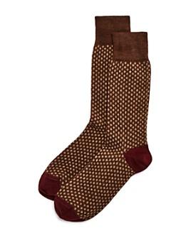 The Men's Store at Bloomingdale's - Wool Mini-Dot Socks - 100% Exclusive