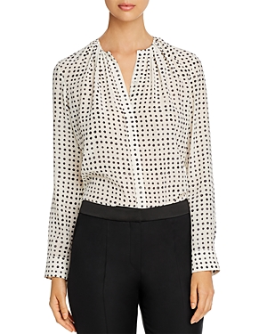 Boss Tops BANORA SILK DOT-PRINT BLOUSE