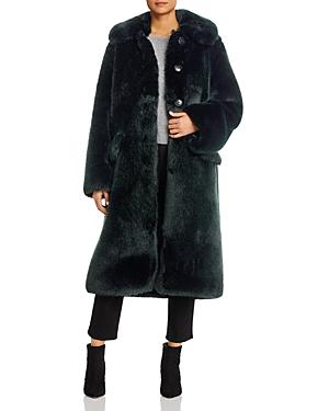 Tory Burch Long Faux Fur Coat