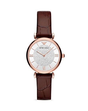 Armani Collezioni  STARRY NIGHT LEATHER STRAP WATCH, 32MM