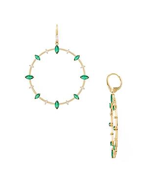 Nadri Loa Stone Station Frontal Hoop Earrings-Jewelry & Accessories