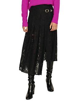 Maje - Jalilo Asymmetric Lace Midi Skirt