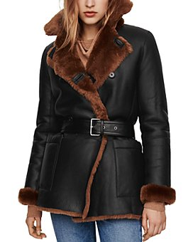 Maje - Gaban Reversible Real Sheep Shearling Coat