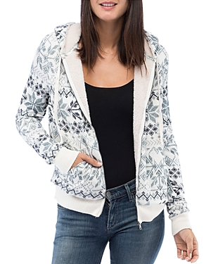 B Collection by Bobeau Remington Sherpa Lined Zip Hoodie