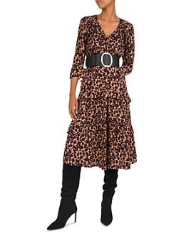 ba&sh - Tracy Leopard Print Midi Dress