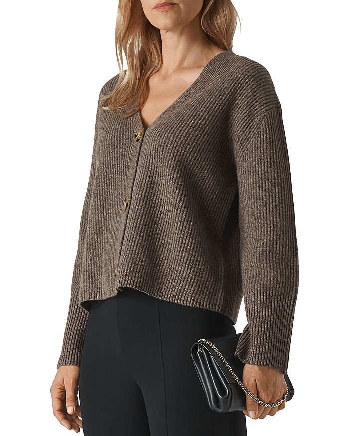 Whistles - Wool-Blend Ribbed Cardigan