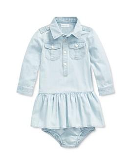 Ralph Lauren - Girls' Chambray Shirt Dress & Bloomers Set - Baby
