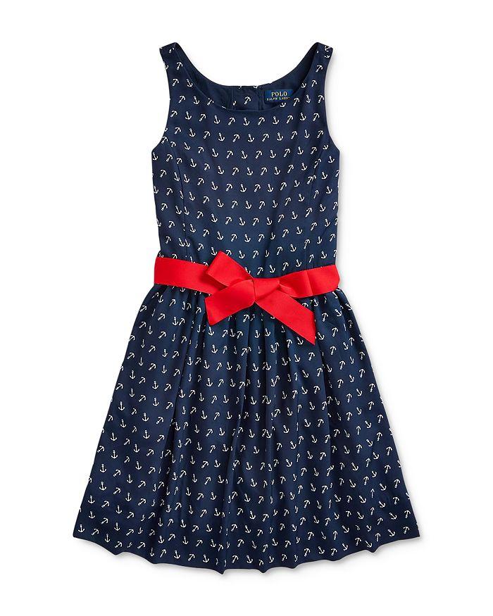 Ralph Lauren - Girls' Anchor Print Dress - Big Kid
