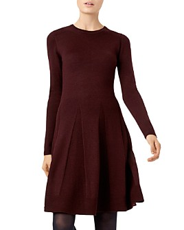 HOBBS LONDON - Sarah Knit Fit-and-Flare Dress