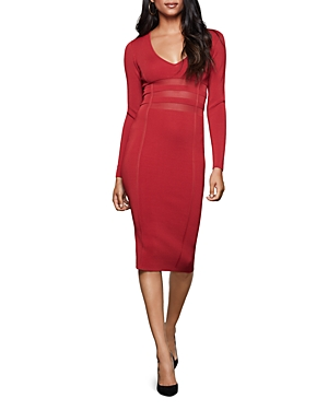 Good American Mesh-Inset Midi Dress-Women