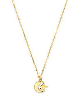 "Moon & Meadow - Star & Moon Pendant Necklace in 14K Yellow Gold, 18"" - 100% Exclusive"