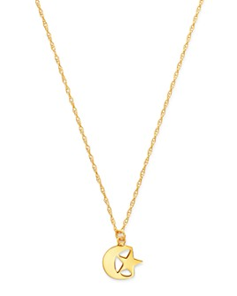 """Moon & Meadow - Star & Moon Pendant Necklace in 14K Yellow Gold, 18"""" - 100% Exclusive"""