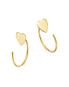 Moon & Meadow - Heart Front-to-Back Earrings in 14K Yellow Gold - 100% Exclusive