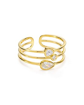 Argento Vivo - Layered Ring in 18K Gold-Plated Sterling Silver