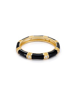 Argento Vivo - Enamel Ring in 18K Gold-Plated Sterling Silver