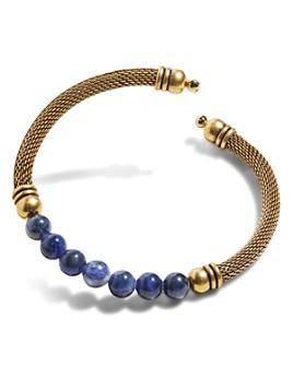 Alex and Ani - Gemstone Expandable Mesh Cuff Bracelet