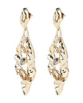 Alexis Bittar - Crumpled Metal Navette Drop Earrings