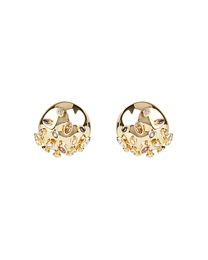 Alexis Bittar Sputnik Button Clip-On Earrings