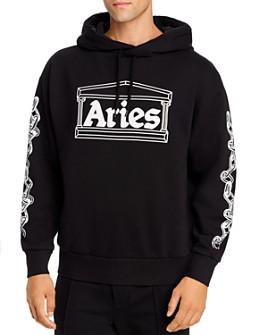 Aries - Graphic Logo Hooded Sweatshirt