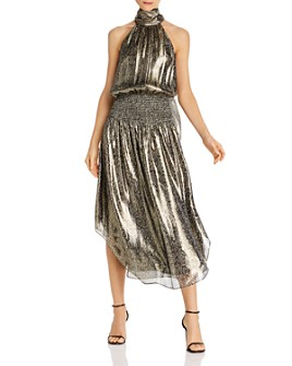 Ramy Brook - Silk Metallic Midi Dress