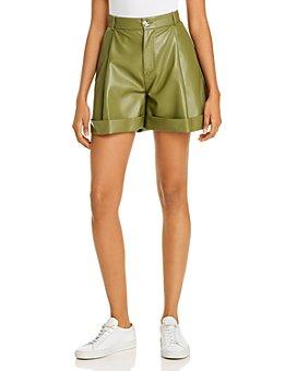 ÁERON - Isabelle Faux-Leather Shorts