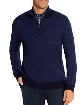 Brooks Brothers - Birdseye Merino Wool Quarter-Zip Sweater