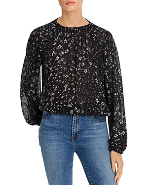 Bella Dahl Tops GATHERED FLORAL TOP